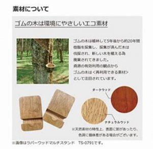 ゴムの木はエコ素材