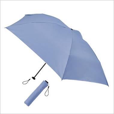 晴雨兼用  スマホより軽い丈夫な折傘 ブルー
