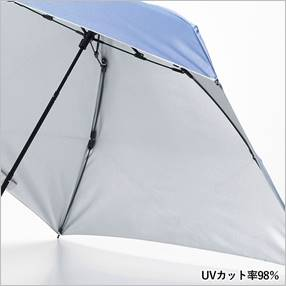 晴雨兼用  スマホより軽い丈夫な折傘 晴雨兼用