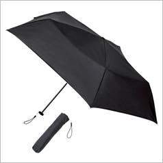 晴雨兼用  スマホより軽い丈夫な折傘 カラー ブラック