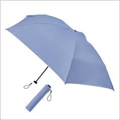 晴雨兼用  スマホより軽い丈夫な折傘 カラー ブルー